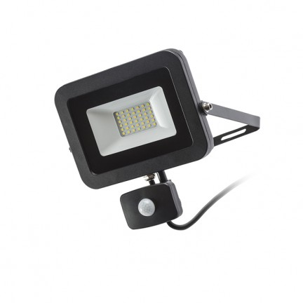RENDL outdoor lamp PONTA with sensor black 230V LED 30W 120° IP54 3000K R12982 1