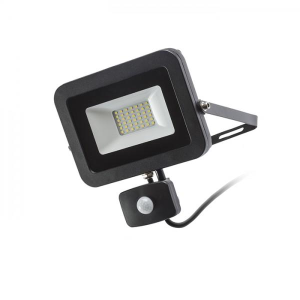 RENDL udendørslampe PONTA med sensor sort 230V LED 30W 120° IP54 3000K R12982 1