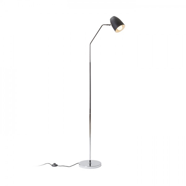 RENDL floor lamp PRAGMA floor black chrome 230V E27 28W R12989 1