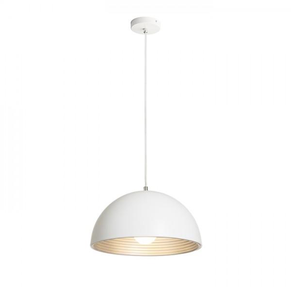 RENDL závěsné svítidlo CARISSIMA 40 závěsná matná bílá/stříbrnošedá 230 E27 42W R13048 1