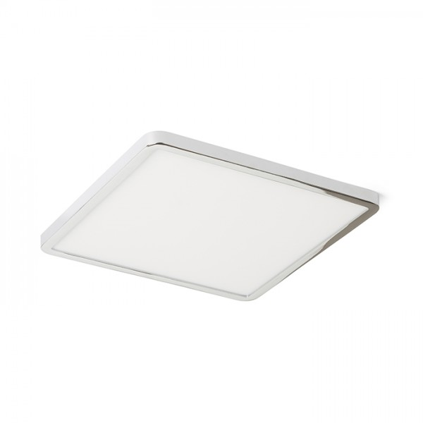 RENDL recessed light HUE SQ 22 DIMM recessed chrome 230V LED 24W 3000K R13070 1