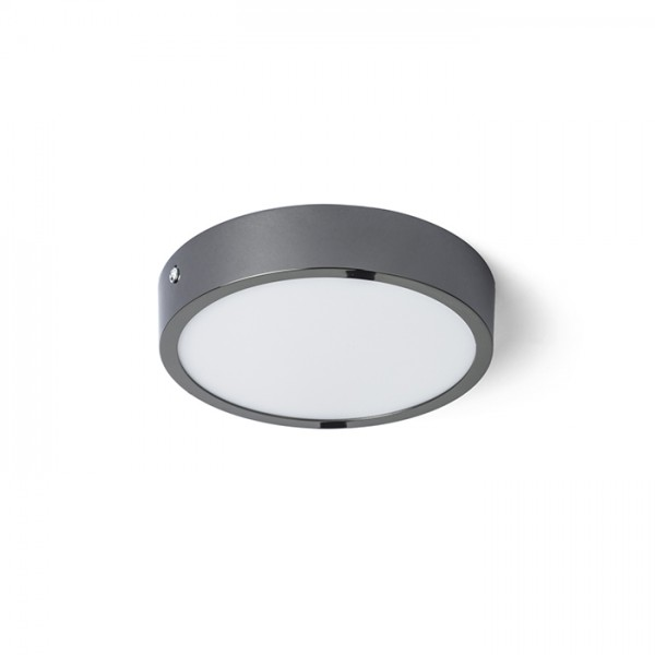 RENDL surface mounted lamp HUE R 17 DIMM ceiling black chrome 230V LED 18W 3000K R13074 1