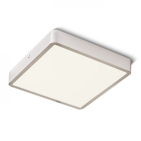 RENDL surface mounted lamp HUE SQ 22 DIMM ceiling matt nickel 230V LED 24W 3000K R13091 1