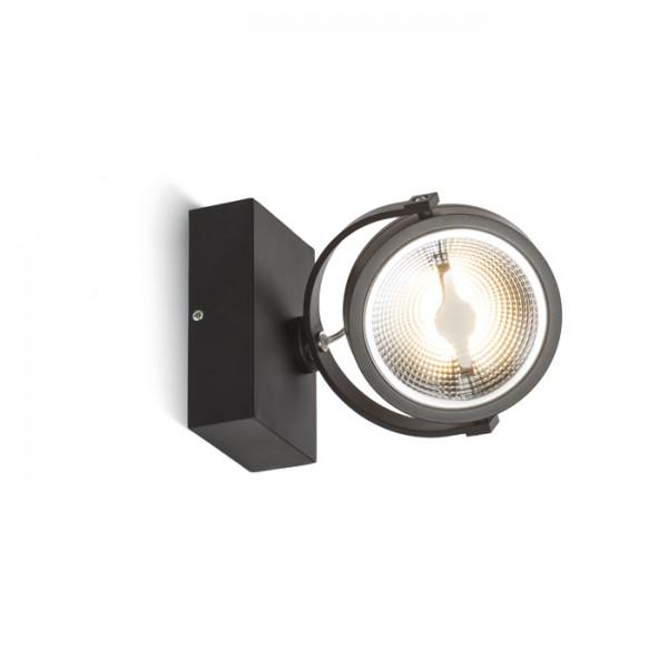 KELLY LED I DIMM nástenná čierna  230V LED 12W 24°  3000K