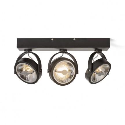 RENDL bodové světlo KELLY LED III DIMM nástěnná černá 230V LED 3x12W 24° 3000K R13109 1