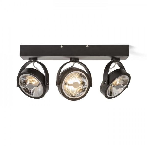 RENDL spotlight KELLY LED III HIMM seinä musta 230V LED 3x12W 24° 3000K R13109 1