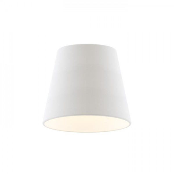 RENDL shades and accessories, bases, pendent sets NIZZA 18/15 shade Polycotton white/white PVC max. 28W R13113 1