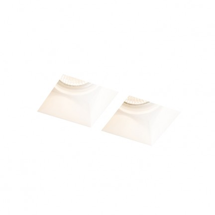 RENDL recessed light QUO SQ II recessed plaster 230V GU10 2x35W R13126 1