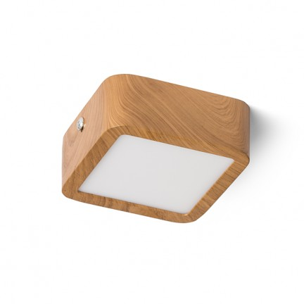 RENDL surface mounted lamp HUE SQ 9 DIMM ceiling imitation beech 230V LED 6W 3000K R13146 1