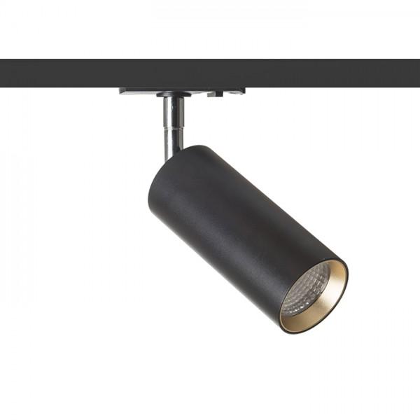 RENDL 1F système de rails MAVRO DIMM pour rail monophasé noir/jaune or 230V LED 12W 38° 3000K R13163 1
