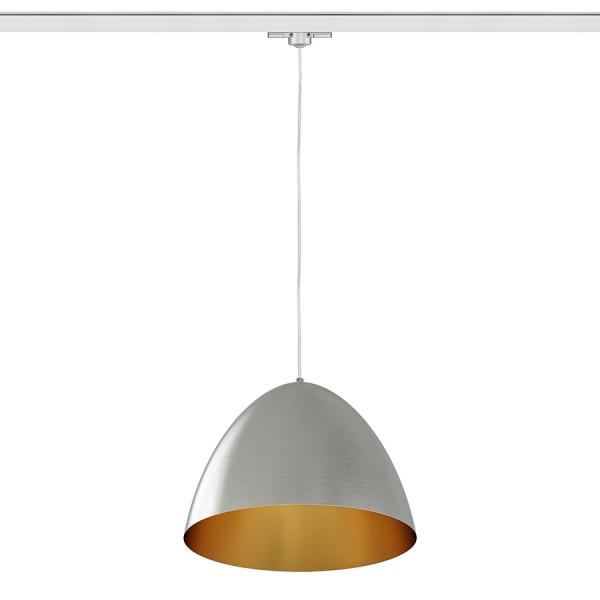 RENDL Světelné lištové, kolejnicové systémy a LED pásky MERYLYN 34 pro tříokr. lištu česaný hliník/zlatý lak 230V E27 28W R13219 1