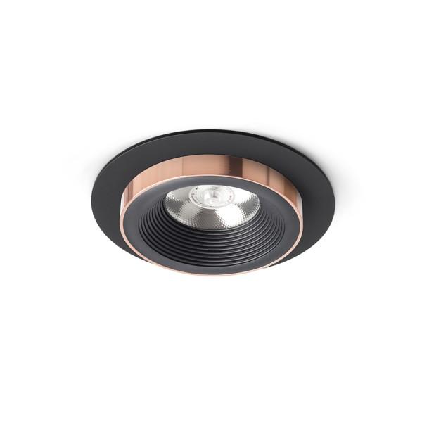 SHARM R I zápustná čierna/čierna meď 230V LED 10W 24°  3000K
