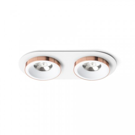 RENDL recessed light SHARM R II recessed white copper 230V LED 2x10W 24° 3000K R13240 1
