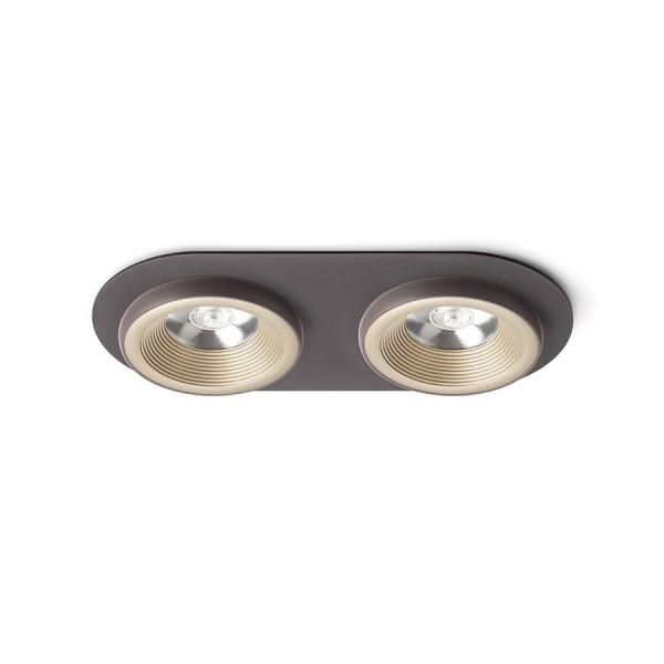 SHARM R II zápustná perlová zlatá/hnedá  230V LED 2x10W 24°  3000K