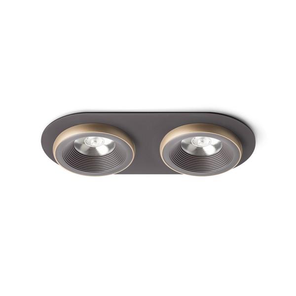 SHARM R II zápustná hnedá/perlová zlatá  230V LED 2x10W 24°  3000K