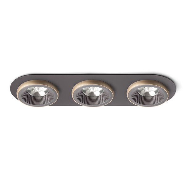 SHARM R III zápustná hnedá/perlová zlatá  230V LED 3x10W 24°  3000K