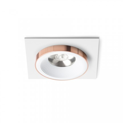 RENDL verzonken lamp SHARM SQ I inbouwlamp wit Koper 230V LED 10W 24° 3000K R13250 1