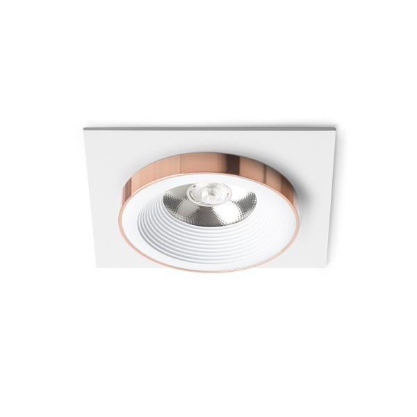 RENDL recessed light SHARM SQ I recessed white copper 230V LED 10W 24° 3000K R13250 1