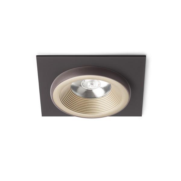 SHARM SQ I zápustná perlová zlatá/hnedá  230V LED 10W 24°  3000K