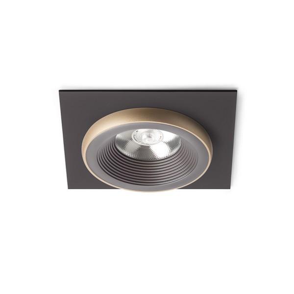 SHARM SQ I zápustná hnedá/perlová zlatá  230V LED 10W 24°  3000K