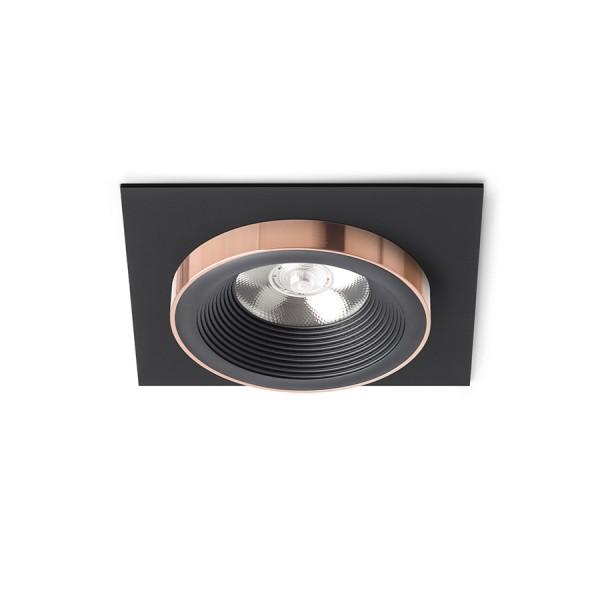SHARM SQ I zápustná čierna/čierna meď 230V LED 10W 24°  3000K
