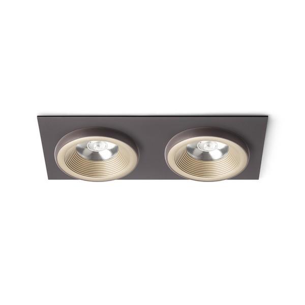 SHARM SQ II zápustná perlová zlatá/hnedá  230V LED 2x10W 24°  3000K