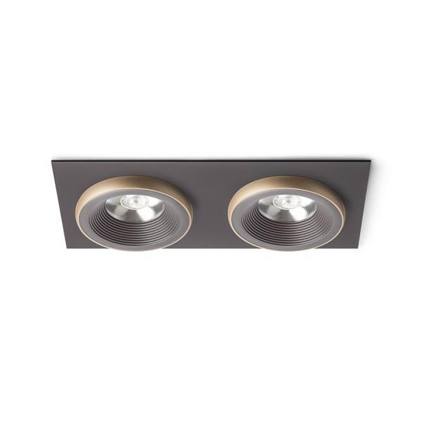 SHARM SQ II zápustná hnedá/perlová zlatá  230V LED 2x10W 24°  3000K