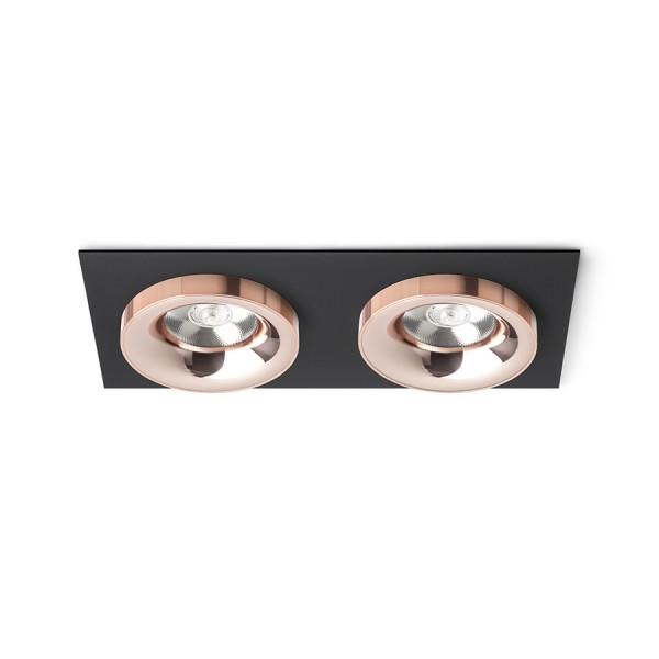 SHARM SQ II zápustná čierna meď/meď 230V LED 2x10W 24°  3000K