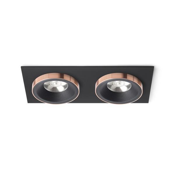 SHARM SQ II zápustná čierna/čierna meď 230V LED 2x10W 24°  3000K