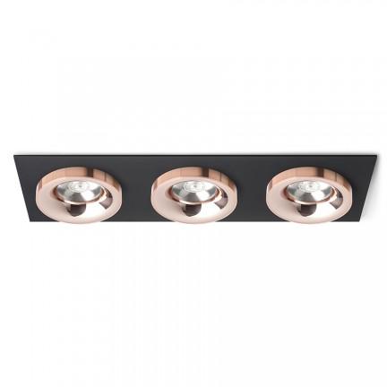 RENDL verzonken lamp SHARM SQ III inbouwlamp zwart Koper/Koper 230V LED 3x10W 24° 3000K R13263 1