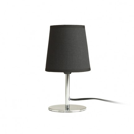 RENDL table lamp MINNIE table black chrome 230V E14 15W R13274 1