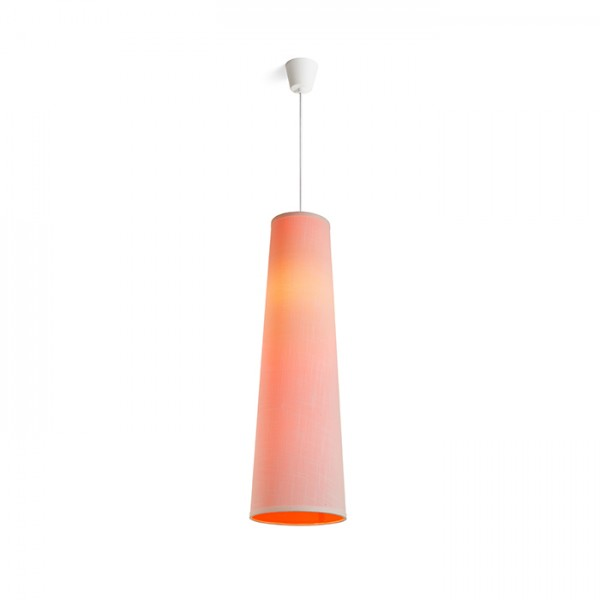 RENDL pendent ESME 76 pendent white/orange 230V E27 28W R13276 1