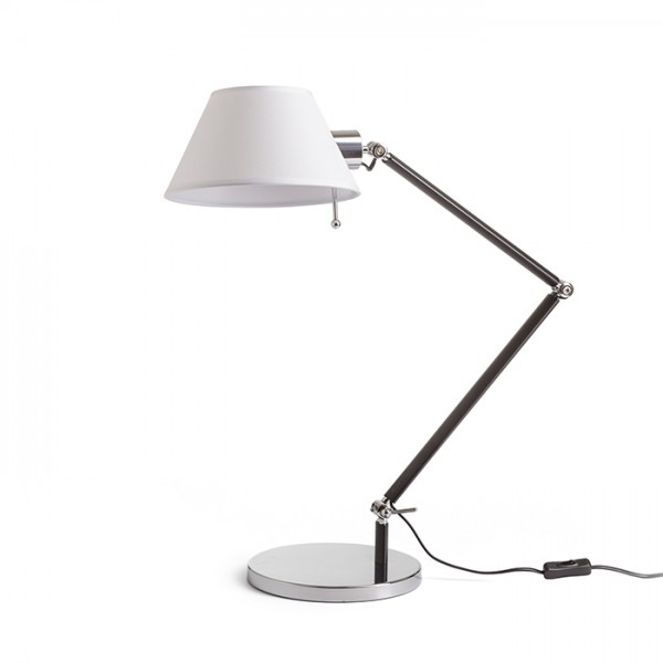 RENDL lampe de table MONTANA table blanc/noir chrome 230V E27 28W R13283 1