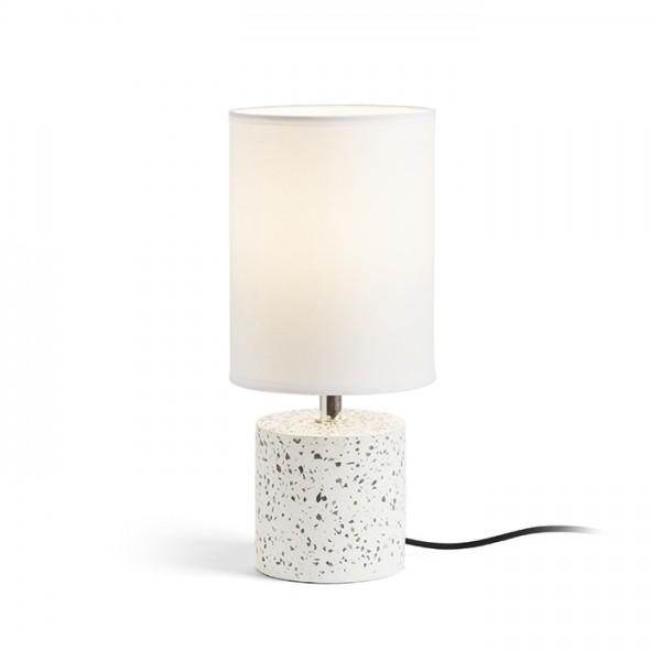 RENDL Stolna svjetiljka CAMINO stolna se sjenilom bijela teraco dekor 230V E27 28W R13294 1