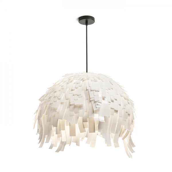 RENDL hanglamp RARA hanglamp wit PVC/zwart 230V E27 15W R13316 1