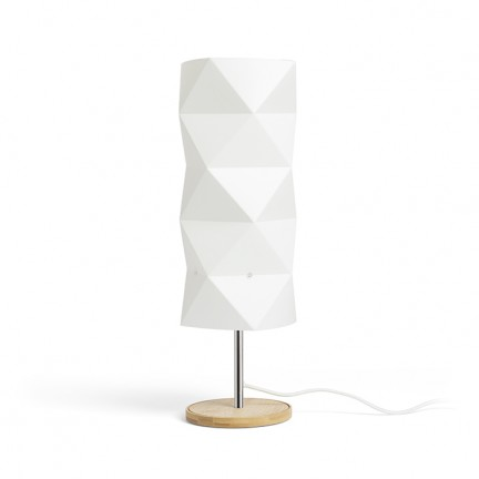 RENDL table lamp ZUMBA table white PVC/wood/chrome 230V E14 11W R13320 1