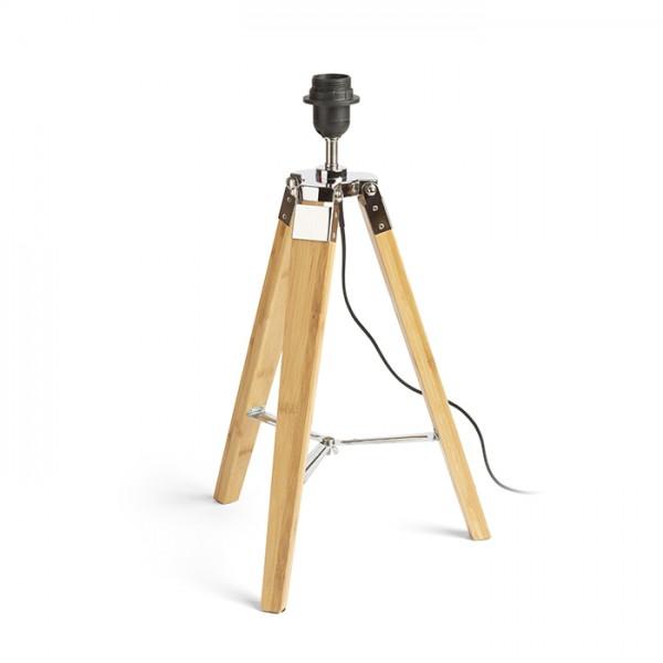 RENDL Abat-jour pour la lampe ALVIS table bambou /chrome 230V E27 28W R13339 1