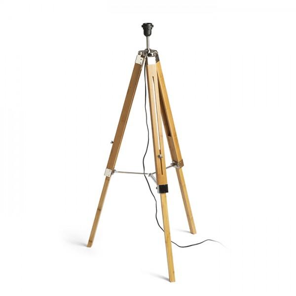 RENDL sjenilo za lampu ALVIS stajaća bambus/krom 230V E27 28W R13340 1