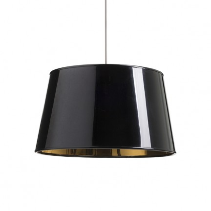 RENDL shades and accessories, bases, pendent sets RIDICK shade shiny black golden foil max. 20W R13344 1