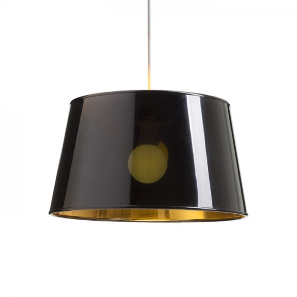 RENDL lampenkappen RIDICK lampenkap glimmend zwart Goudfolie max. 20W R13344 1