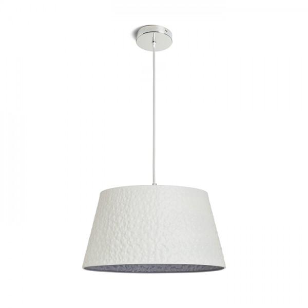 RENDL függő lámpatest BUCKY 40 függeszték fehér/szürke fém 230V E27 28W R13360 1