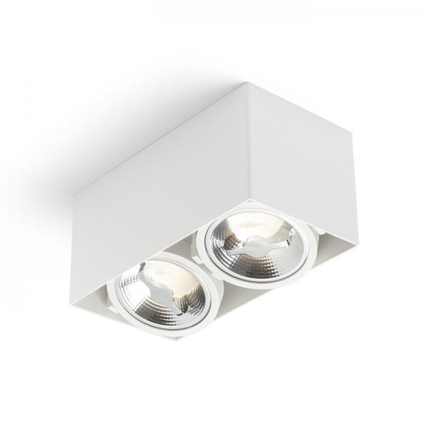 RENDL přisazené svítidlo JAMES II DIMM stropní matná bílá 230V LED 2x15W 24° 3000K R13362 1