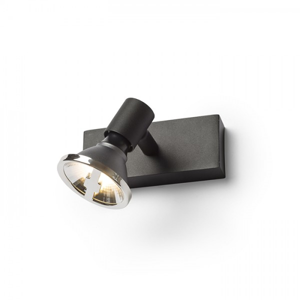 RENDL spotlight TRICA I wall black 230V GU10 25W R13372 1