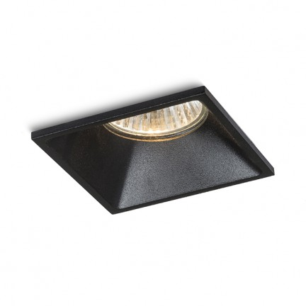 RENDL recessed light ZURI SQ recessed black 230V GU10 35W R13391 1