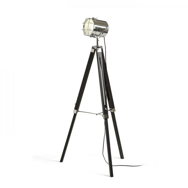 RENDL stajaća lampa NAUTIC stajaća crna krom 230V E27 20W R13394 1