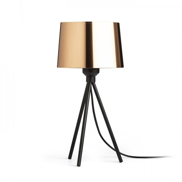 RENDL table lamp SENSATION table copper foil black 230V E27 15W R13399 1
