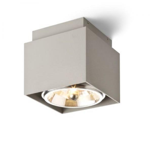 RENDL přisazené svítidlo EX 111 hranatá stropní česaný hliník 230V/12V G53 50W R13491 1