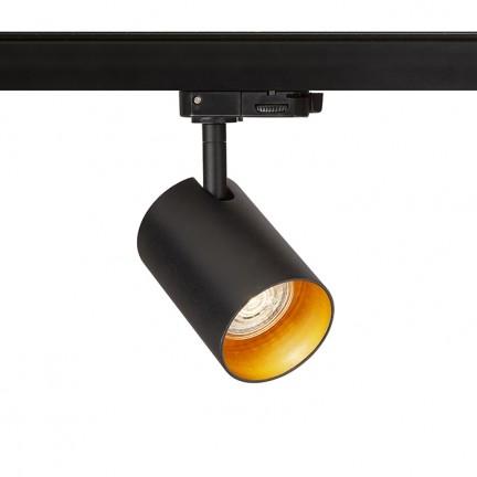 RENDL LED sínek és rendszerek CONNOR három áramkörös sínre fekete/aranysárga 230V LED GU10 10W R13500 1
