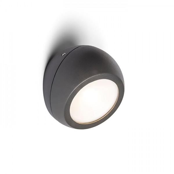 RENDL luminaria de exterior SIV montado en la superficie gris antracita 230V LED 6W 120° IP54 3000K R13502 1