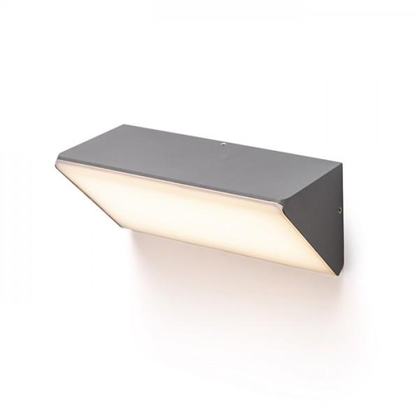 RENDL kültéri lámpa ANDANTE fali lámpa anrtracitszürke matt akrilát 230V LED 21W IP65 3000K R13504 1